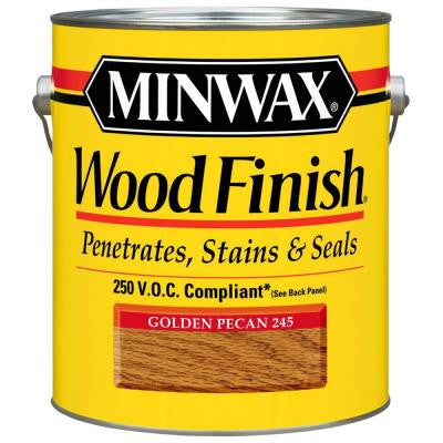 1 gal. Oil-Based Golden Pecan Wood Finish 250 VOC Interior Stain (2-Pack)