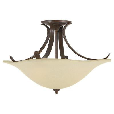 Morningside 3-Light Grecian Bronze Semi-Flush Mount Light