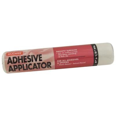 9 in. x 1/8 in. High-Density Adhesive Applicator Fabric Roller Cover