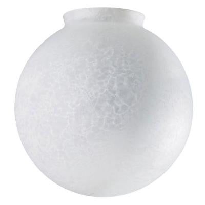 6 in. Handblown Cloudy Frosted Globe with 3-1/4 in. Fitter