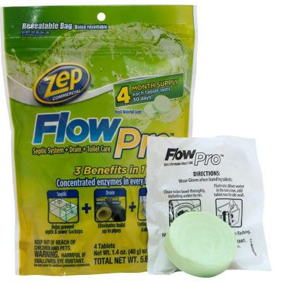 5.6 oz. FlowPro Septic System for Drain and Toilet
