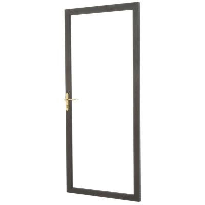 36 in. x 80 in. 2000 Series Bronze Full View Storm Door