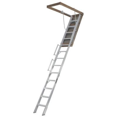 Everest 10 ft. - 12 ft., 22.5 in. x 63 in. Aluminum Attic Ladder with 350 lb. Load Capacity