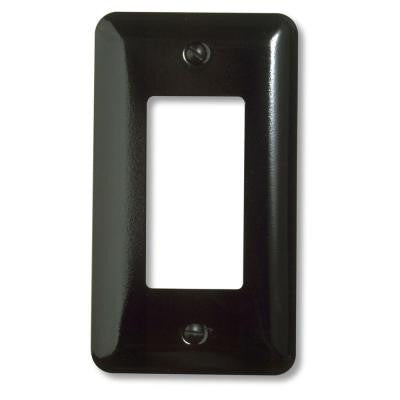 Steel 1 Decora Wall Plate - Black