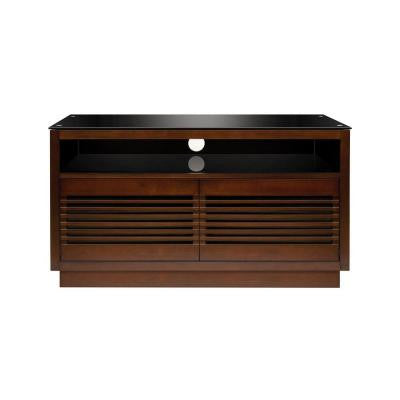 50 in. 4-Shelf Audio/Video Cabinet - Chocolate