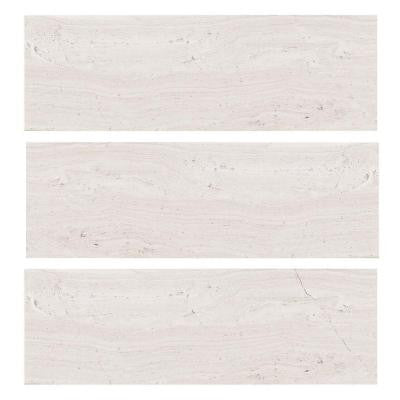 Stone Grey 4 in. x 12 in. Limestone Wall Tile (3-Pack)