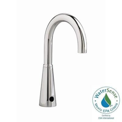 Selectronic Proximity Gooseneck Spout Multi AC Powered Touchless Lavatory Faucet in Polished Chrome