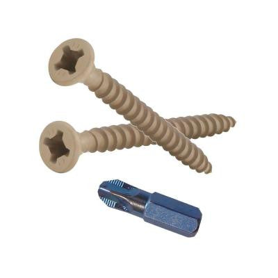 #9 2 in. Phillips-Square Flat-Head Wood Deck Screws (5 lb.-Pack)