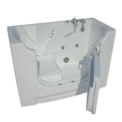 5 ft. Right Drain Wheel Chair Accessible Whirlpool and Air Bath Tub in White