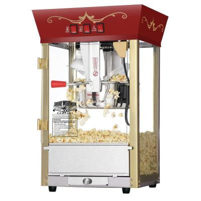 Matinee Movie 8 oz. Top Popcorn Popper Machine in Red