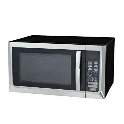 1.1 cu. ft. Countertop Microwave Oven in Stainless Steel