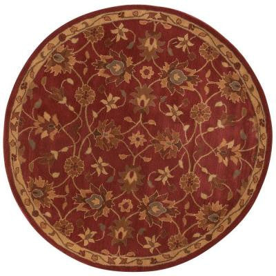 Kent Red 8 ft. Round Area Rug