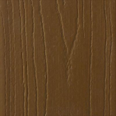 Pro 1 in. x 5-3/8 in. x 1/2 ft. Brazilian Chestnut Capped Composite Decking Board Sample