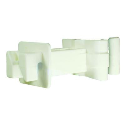 T-Post - 3 in. Polywire/Wire Extension Insulator - White
