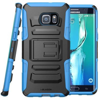 Galaxy S6 Edge Plus Prime Series Holster Case with Kickstand - Blue