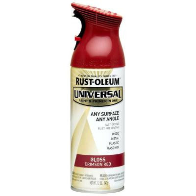 12 oz. All Surface Gloss Crimson Red Spray Paint and Primer in One (6-Pack)