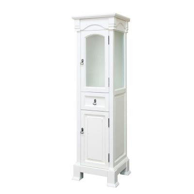 Bloomfield 18 in. W Linen Cabinet in White