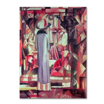24 in. x 18 in. Woman in Front of a Window Canvas Art