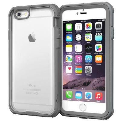 Glacier Tough Hybrid PC TPU Rugged Case for iPhone 6 4.7 - Gray