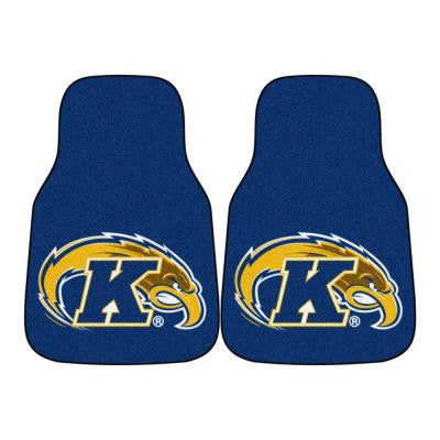 NCAA Kent State University Heavy Duty 2-Piece 18 in. x 27 in. Nylon Carpet Car Mat
