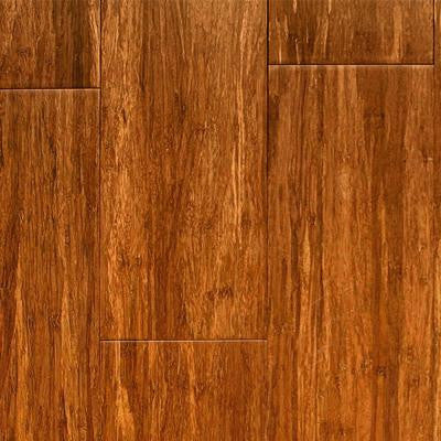 Carbonized 5/16 in. Thick x 3-3/4 in. Wide x Random Length Solid Strand Woven Bamboo Flooring (35 sq. ft. / case)
