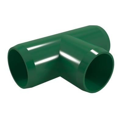 1/2 in. Furniture Grade PVC Tee in Green (10-Pack)