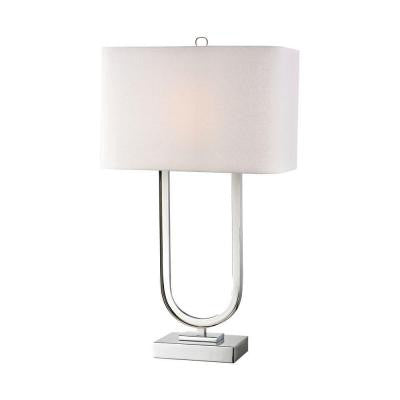 Orly 32 in. Polished Nickel Table Lamp with Shade
