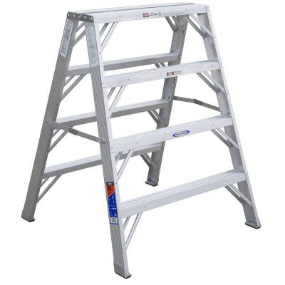 4 ft. Aluminum Work Stand Step Ladder with 300 lb. Load Capacity Type IA Duty Rating