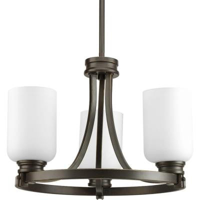 Orbit Collection 3-Light Antique Bronze Semi-Flush Mount