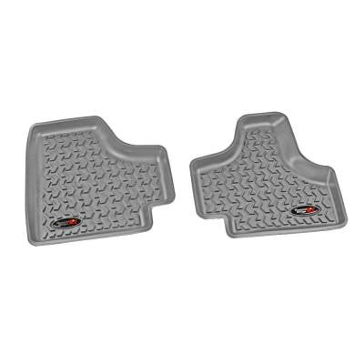 Floor Liner Rear Pair Gray 2008-2013 Jeep Liberty KK