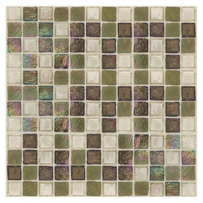 Egyptian Glass Topaz Melange 12 in. x 12 in. x 6 mm Glass Face-Mounted Mosaic Wall Tile