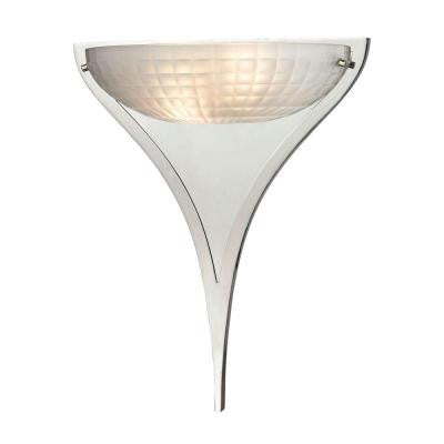 Sculptive 14 in. 2-Light Polished Chrome Sconce