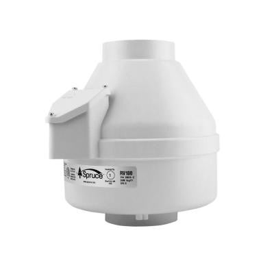 100 CFM White Powered 4 in. Inline Duct Fan