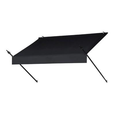 6 ft. Designer Manually Retractable Awning (Projection 36.5 in.) in Ebony