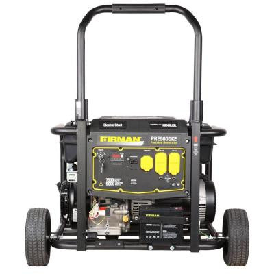 9000-Watt Gasoline Powered Electric Start Portable Generator with Kohler Engine and Wheel Kit