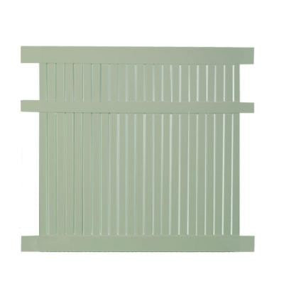 Avondale 6 ft. x 6 ft. Khaki Vinyl Semi-Privacy Fence Panel