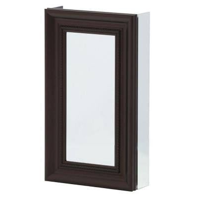 15 in. x 26 in. Recessed or Surface Mount Mirrored Medicine Cabinet in Oil Rubbed Bronze