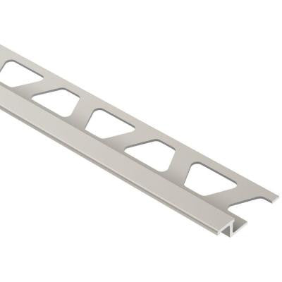 Reno-TK Satin Nickel Anodized Aluminum 1/4 in. x 8 ft. 2-1/2 in. Metal Reducer Tile Edging Trim