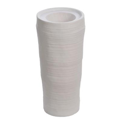 29 in. Tall Oval Fiber-Stone Planter