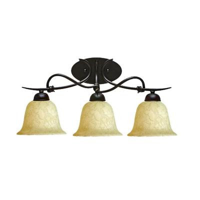 3-Light Golden Bronze Sconce