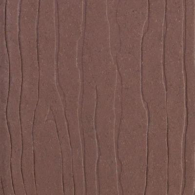 Vantage 1 in. x 5-3/8 in. x 1/4 ft. Mahogany Composite Decking Board Sample