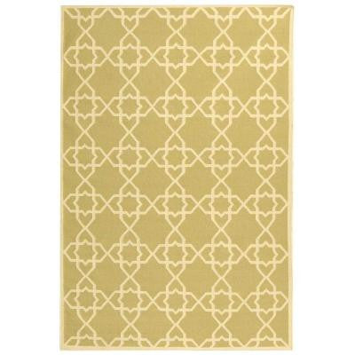 Dhurries Olive/Ivory 10 ft. x 14 ft. Area Rug