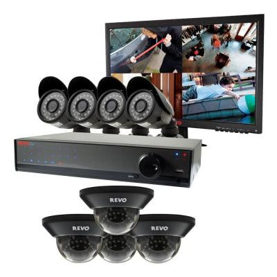 Lite 16-Channel 2TB 960H DVR Surveillance System with (8) 700TVL Cameras and Monitor