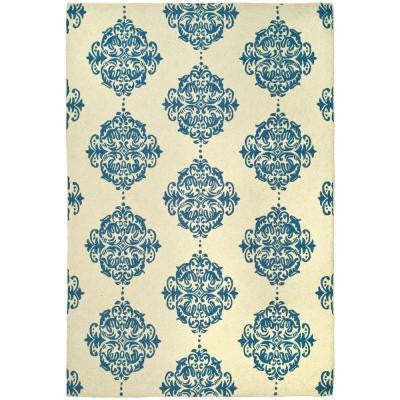 Chelsea Ivory/Blue 6 ft. x 9 ft. Area Rug