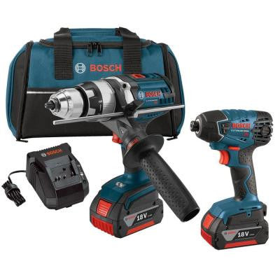18-Volt Lithium-Ion Cordless Drill/Driver and Impact Driver Combo Kit (2-Tool)