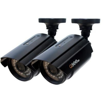 Wired 1080p Indoor/Outdoor Bullet Camera with 100 ft. Night Vision (2-Pack)