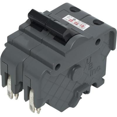 Thick 15-Amp 2 in. Double-Pole Type F UBI Replacement Circuit Breaker