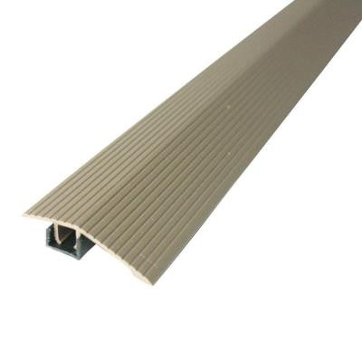 Cinch 1.8125 in. x 36 in. Spice Fluted Reducer Transition Strip for Uneven Floors with Snap Track