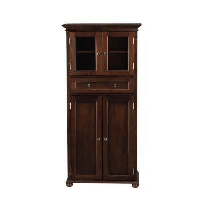 Hampton Bay 25 in. W Linen Cabinet in Sequoia