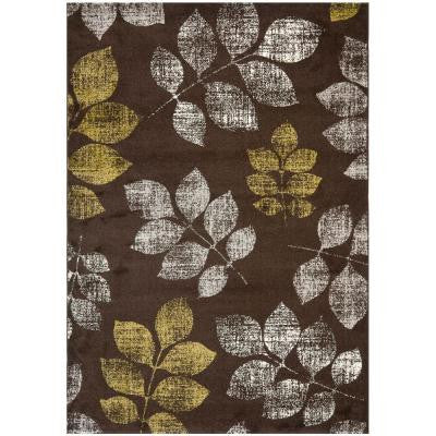 Porcello Brown/Green 6 ft. 7 in. x 9 ft. 6 in. Area Rug